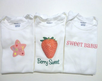 Set of 3 Onesies - Size 12 month