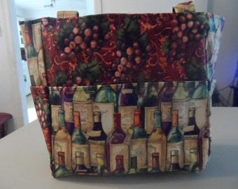 wine wine bottle grapes red bag/purse/ diaper bag