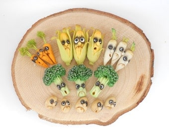 Fantasy vegetables with faces - Carrot