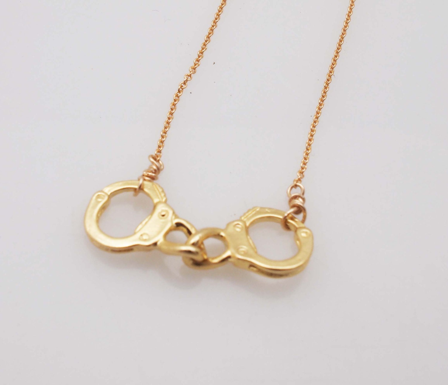 Handcuff Necklace Gold: Necklace-Gold Handcuffs Necklace By Madredeolivia On Etsy