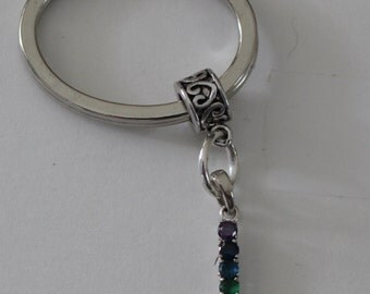 Sterling CHAKRA Key Ring - Key Chain -