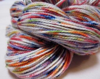 Splattered Rainbow BFL Sock Yarn