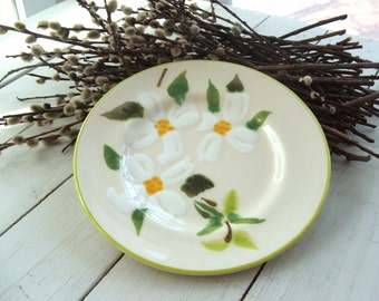 Decorative Ceramic Plate with Magnolia Blossoms