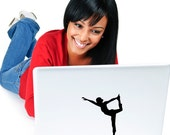 Yoga Pose - Standing Bow Laptop Decal - Car Decal