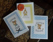 Dog theme Cards - hand drawn - set of 3