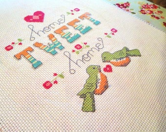 Home Tweet Home Cross Stitch Pattern - Instant Download