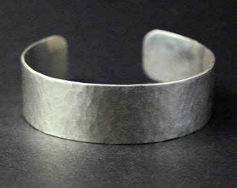 Sterling Silver Bangle, Hammered, Cuff Bracelet, Silver Bracelet, Women, Men, Man, Woman, Child, Bangle, Cuff, Unisex, Wide Cuff, Large