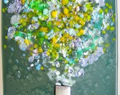 Handmade Fused Glass Nightlight- Mica Bouquet