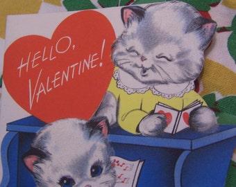 hello valentine with kittens