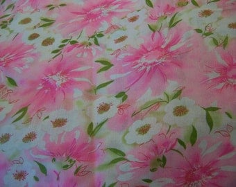 delicate flowery pink fabric