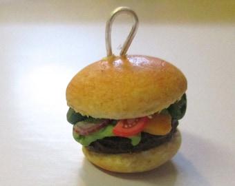 Cheeseburger Pendant, Ready to Ship