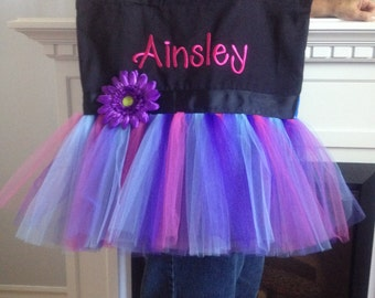 Personalized Embroidered Tutu Tote Bag
