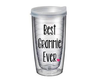 Best Grammie Ever Pacific Tumbler 16 oz - Gender Reveal Grammie, World's Best Grammie,  Grammie Mother's Day, Pregnancy Announcement Grammie