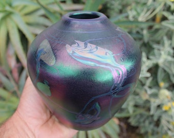 Glass Vase - Hand Blown - Free Shipping