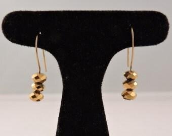 Simple Gold Facet Earrings