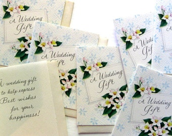 Vintage Small Wedding Gift Cards (10) with Envelopes, Floral