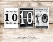 Number 10 TEN Photograph, Individual 4x6 Number Photo, Wedding Date Print (10)