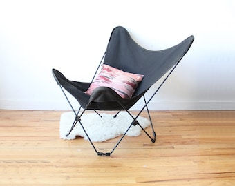 Iron Mid Century Black Butterfly Chair