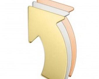 Nickel Silver Rounded Arrow - 1 1/2 x 3/4 x 24 gauge - Qty 3, stamping blank, metal blank, Impress Art, shape blank, heart, supply, supplies