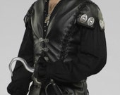 Custom Made leather Killian from Once Upon a Time Capatin Hook Adult 3 pc. leather vest , pants and cotton shirt