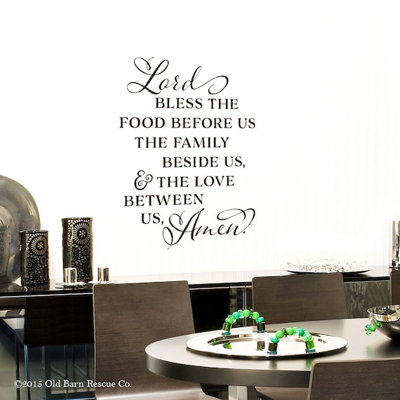 Lord Bless The Food Before Us Vinyl Wall By