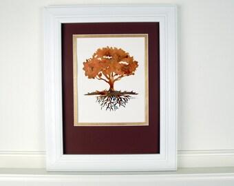 Father's Day, Tree of Life, Oak Tree Art, Wall Art, Family Tree