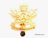 Royal Canada Air Cadets Gold Brass Cap Clip / Badge