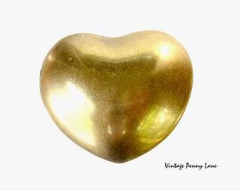 Vintage Brass Heart Trinket / Jewelry Box
