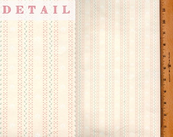 Vtg Doll House Wallpaper Tiny 2 Sheets Peach Dots Stripes