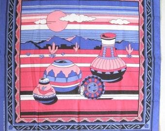 Vintage 80s Southwestern Native Bandana. Like New