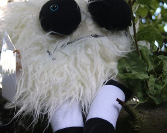 Derek. He's a handmade naughty monster plush