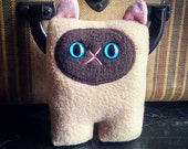 Siamese Cat Nubbin - Pink Nose - Made To Order