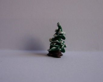 144th scale dolls house miniature snowed covered Christmas tree