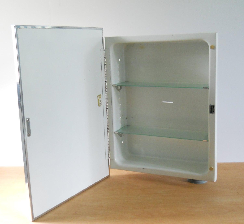 Vintage Metal Recessed Medicine Cabinet F W Lawson