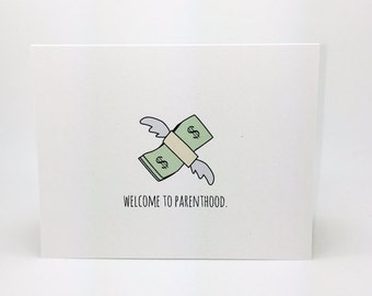 Funny New Baby Card- Welcome To Parenthood