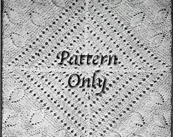1921 Knitted Bedspread Square Digital PDF Pattern