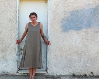 Sandstorm - Pure Soft Linen -  Slip on Summer Dress - made by Kathrin Kneidl