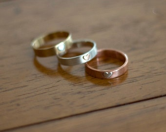 Heart wedding ring (E0543)