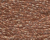 Czech Seed Beads 6/0 Copper Lined Crystal Clear 31737 , Glass Seed Bead, Size 6/0 Seed Beads, 4mm Seed Beads, Preciosia, Jablonex Seed Beads