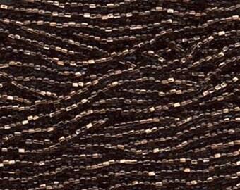 Czech Seed Beads 6/0 Copper Lined Black Diamond 31661 , Glass Seed Bead, Size 6/0 Seed Beads, 4mm Seed Beads, Preciosia, Jablonex Seed Beads