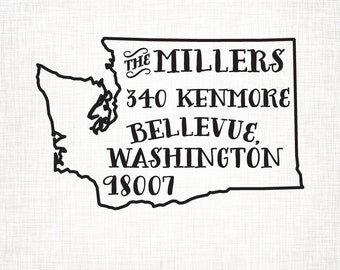 Washington Personalized Return Address State Stamp
