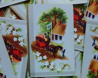 Vintage Horse Carriage Playing Cards