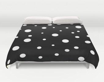 polka dot duvet etsy. Black Bedroom Furniture Sets. Home Design Ideas