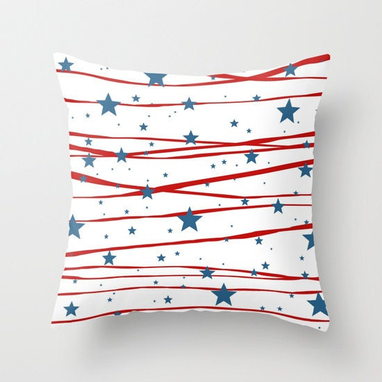 Throw pillow stars and stripes 4th of july patriotic Stars and stripes home decor