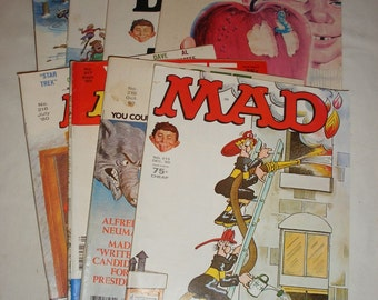 Vintage Mad Magazine Complete Year 1980 Issue's #212 to #219