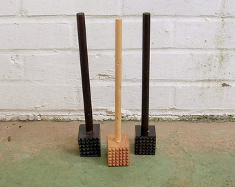 Vintage Wood Wooden Meat Mallet Meat Tenderizers Vintage Potato Mashers Vintage Kitchen Utensils