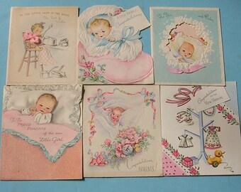 Vintage Greeting Cards Vintage Baby Cards Vintage Paper Ephemera 1950's