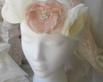 Bridal Hair Accessory,Flower Crown,Hair Wreath,floral headpiece garland, Bohemian hair accessory , bridal crown, Flower girl accessory