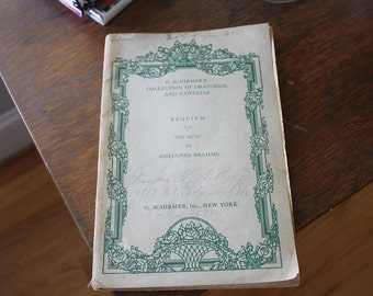 G. Schirmer's Collection of Oratorios and Cantatas Sheet Music Book