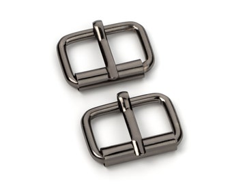 "30pcs - 1"" Roller Pin Belt Buckles - Black Nickel - Free Shipping (ROLLER BUCKLE RBK-115)"